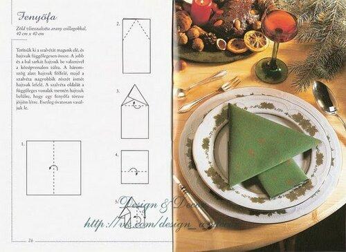 Большая коллекция способов складывания тканевой салфетки для праздничного стола