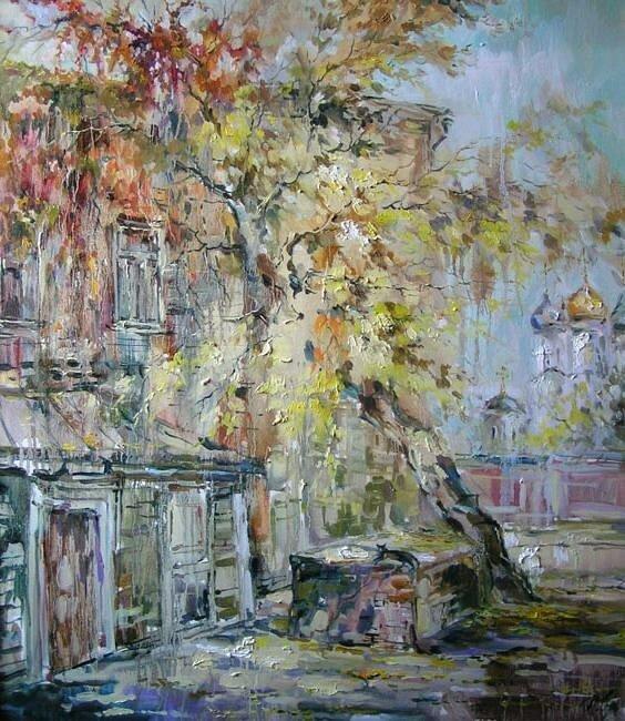 Анна Чарина. Двор у Зачатьевского монастыря.jpg