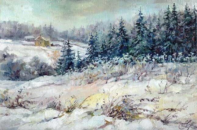 Анна Чарина. Зима в Подмосковье.jpg