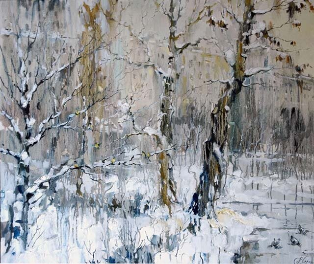 Анна Чарина. Зима на Чистых прудах.jpg