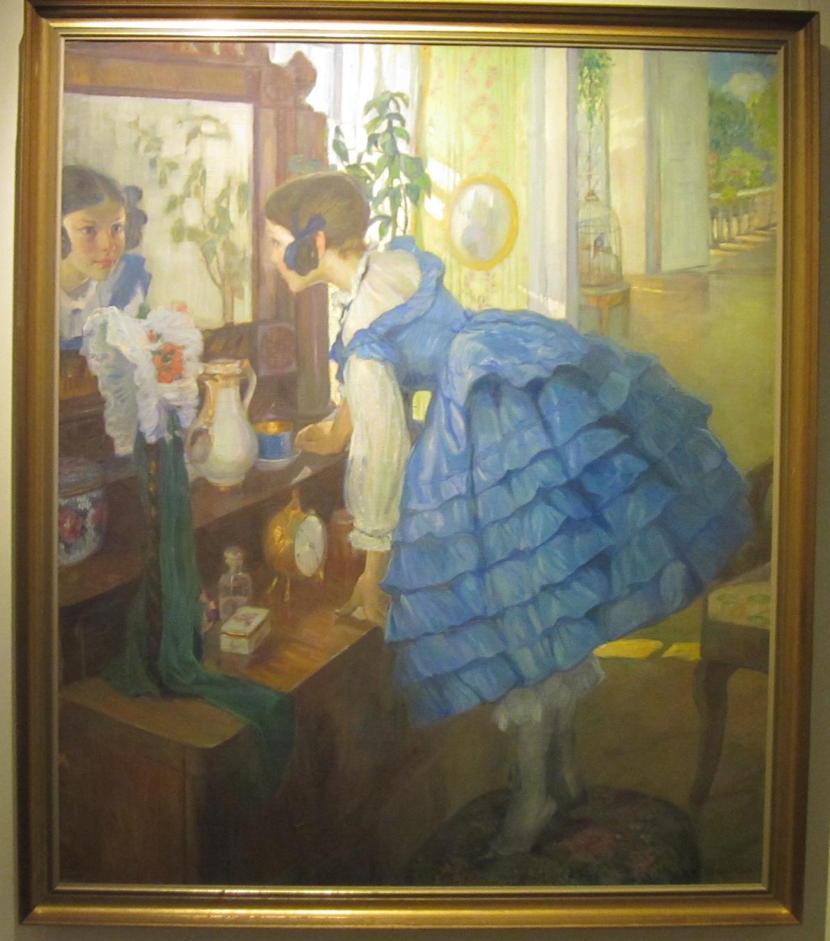 ″Маленькая женщина″, художник Ольга Делла-Вос-Кардовская Ольга (07.07.2015)