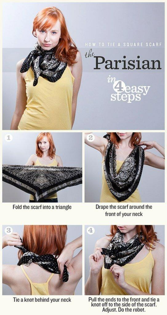 как прикольно завязать шарф