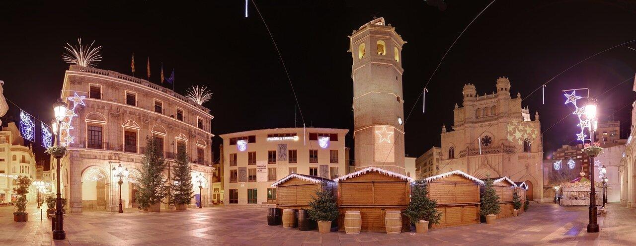 Castellon de la Plana,  Кастельон де ла Плана. Plaza Mayor, panorama