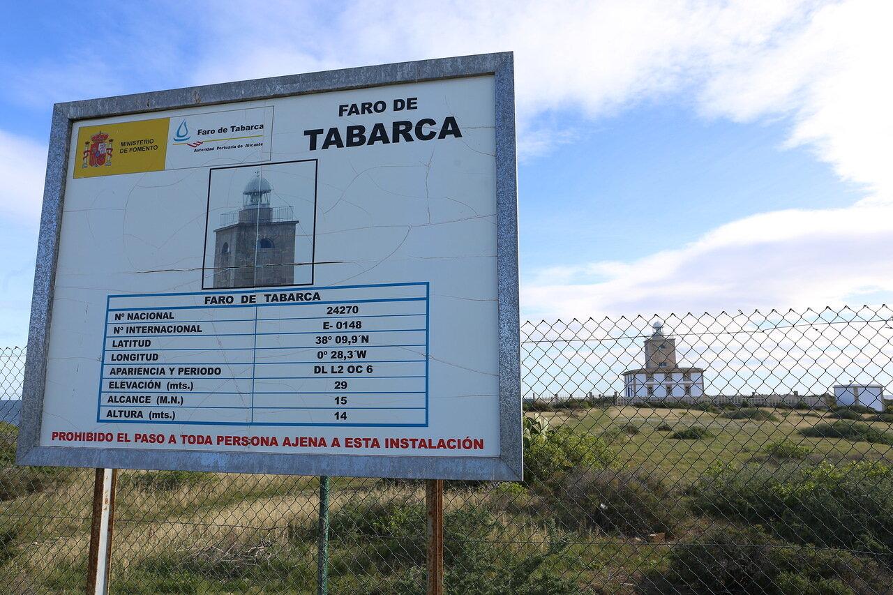 Маяк острова Табарка (Faro de Tabarca)