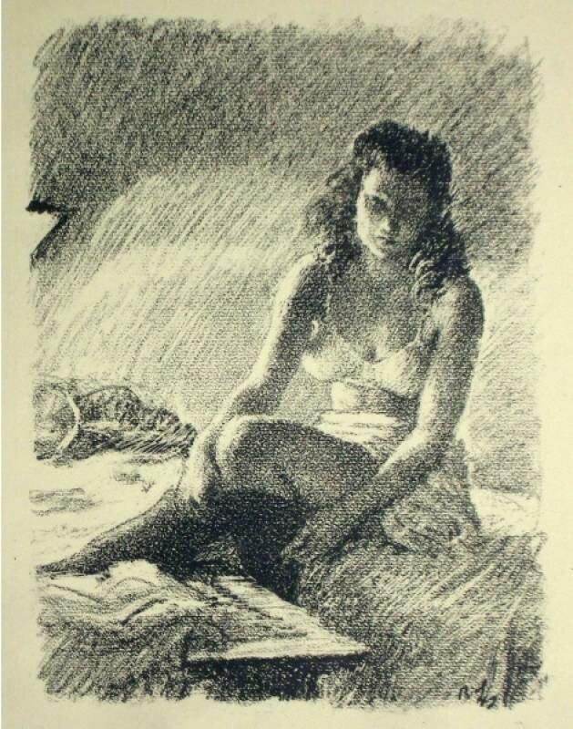 Раздевающаяся по лампой | Girl, undressing in the lamplight