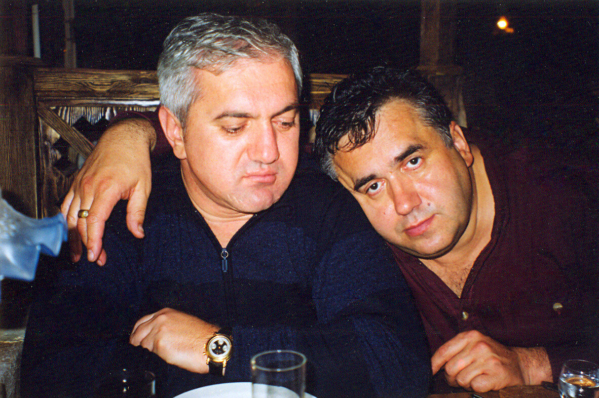 С другом Элгудже (Буба) Кебурия