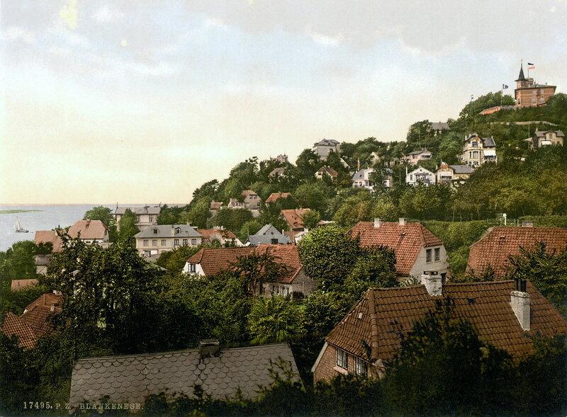 Крыши домов в Бланкенезе