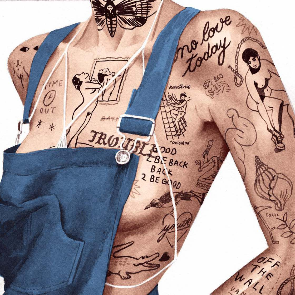 Tattooed Girls - Les illustrations suggestives de Jean Andre