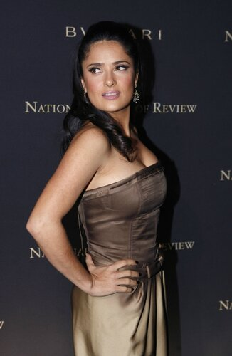 Actress Salma Hayek arrives at the 2008 National Board of Review awards gala in New York