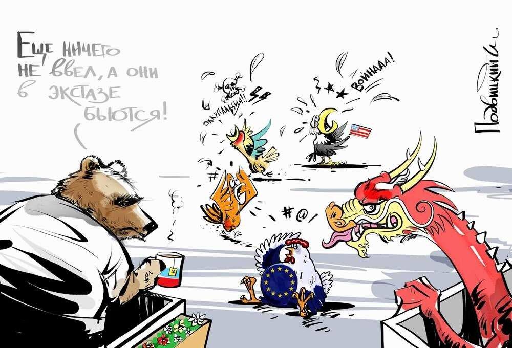 Россия и Украина - Карикатурист Виталий Подвицкий  (18)
