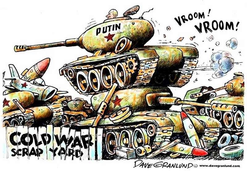 Тактика Путина времен новой холодной войны (Dave Granlund)