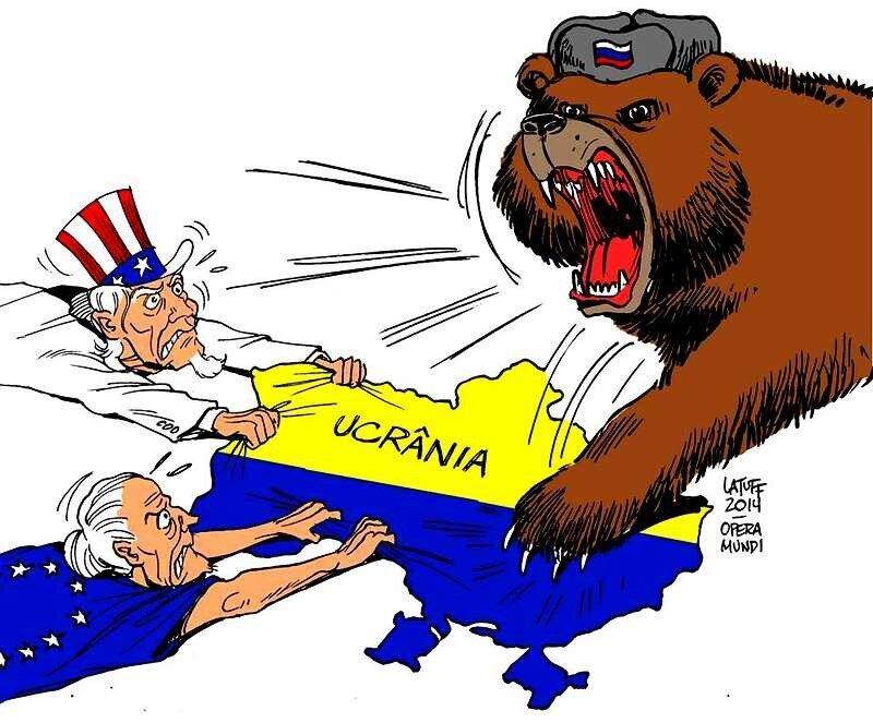 Украина: Русский гигант проснулся! (Carlos Latuff)