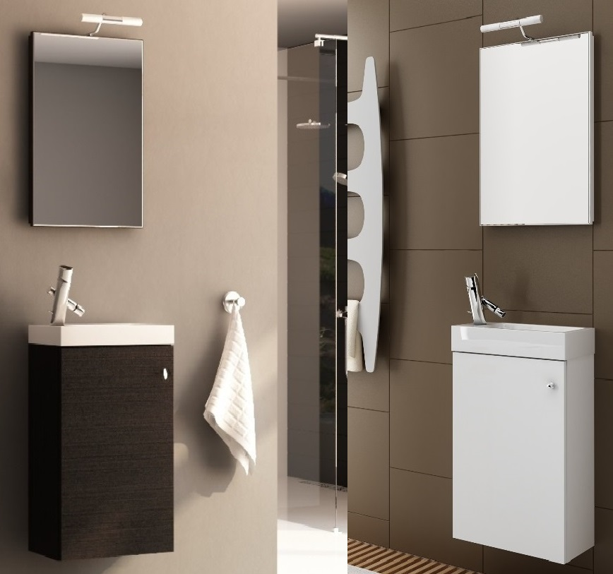badm bel set 3 4tlg g ste wc mit waschbecken spiegel beleuchtung badezimmer at ebay. Black Bedroom Furniture Sets. Home Design Ideas