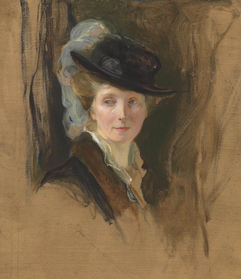 Миссис Ласло, урожденная Люси Гинесс жена художника.