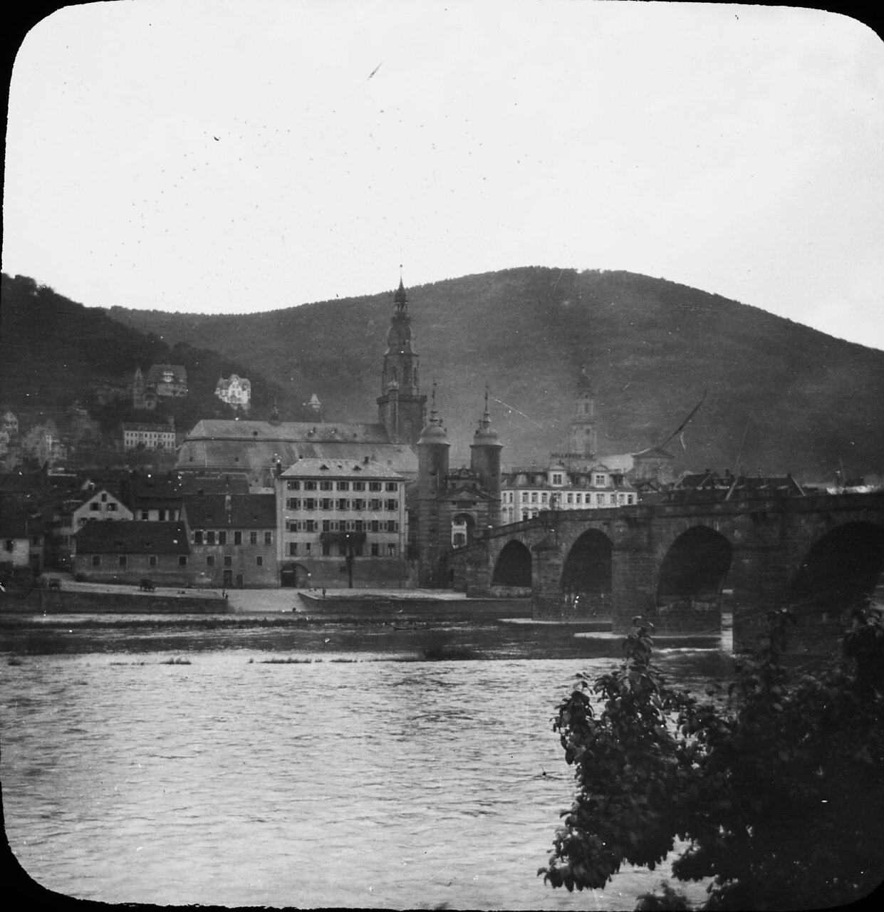 Гейдельберг. Мост Карла-Теодора через реку Неккар, 1906