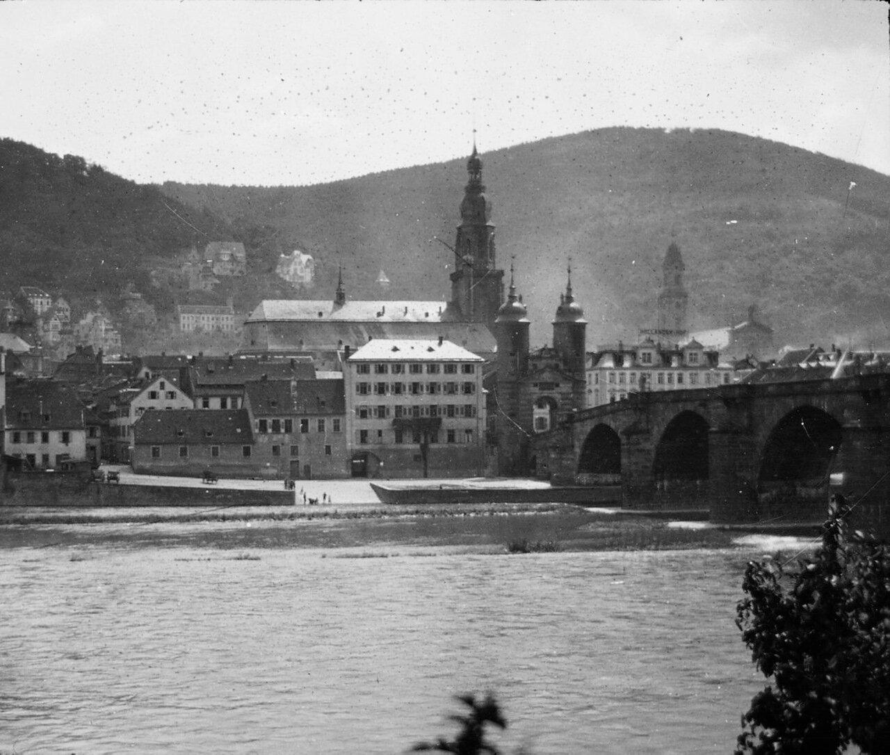 Гейдельберг. Мост через реку Неккар. 1906