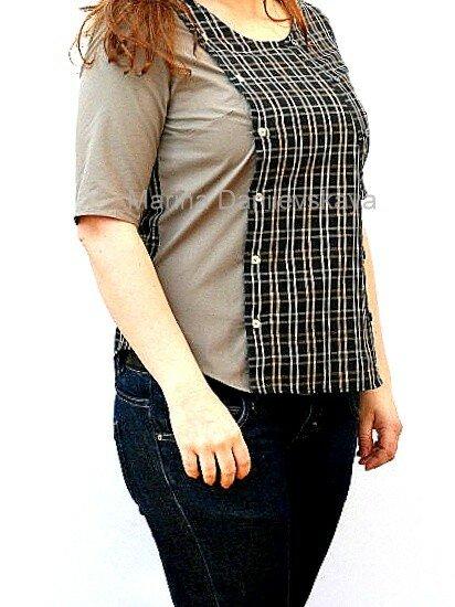 расширяем футболку мужской рубашкой Marina Danilevskaya