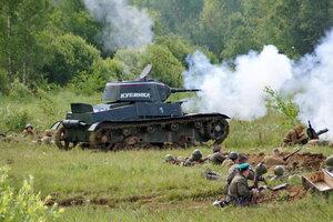 Т-26 атакует. 22 июня, реконструкция начала ВОВ в Кубинке (2 часть)