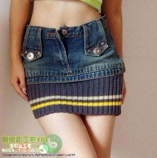 Юбки, брюки, сарафаны из джинс. Skirts, pants, tunics of jeans.
