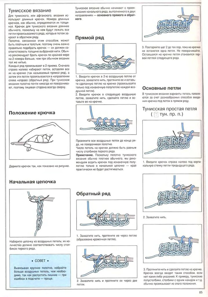 Вязание крючком виды петель с рисунками 76