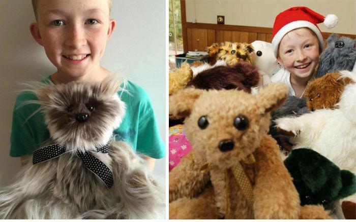 12-летний Кэмпбелл Ремесс научился шить, чтобы мастерить мягкие игрушки для больных детей. Только в
