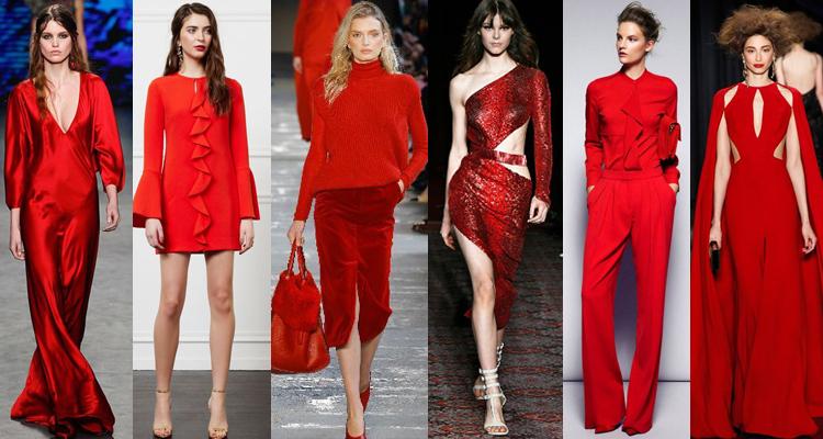 Модный красный цвет в одежде