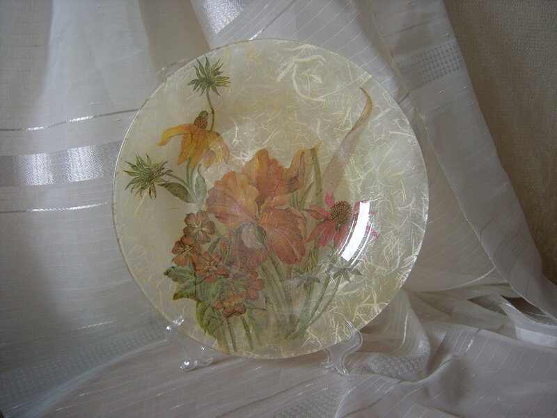 Букет. Тарелка Ода солнечному лету