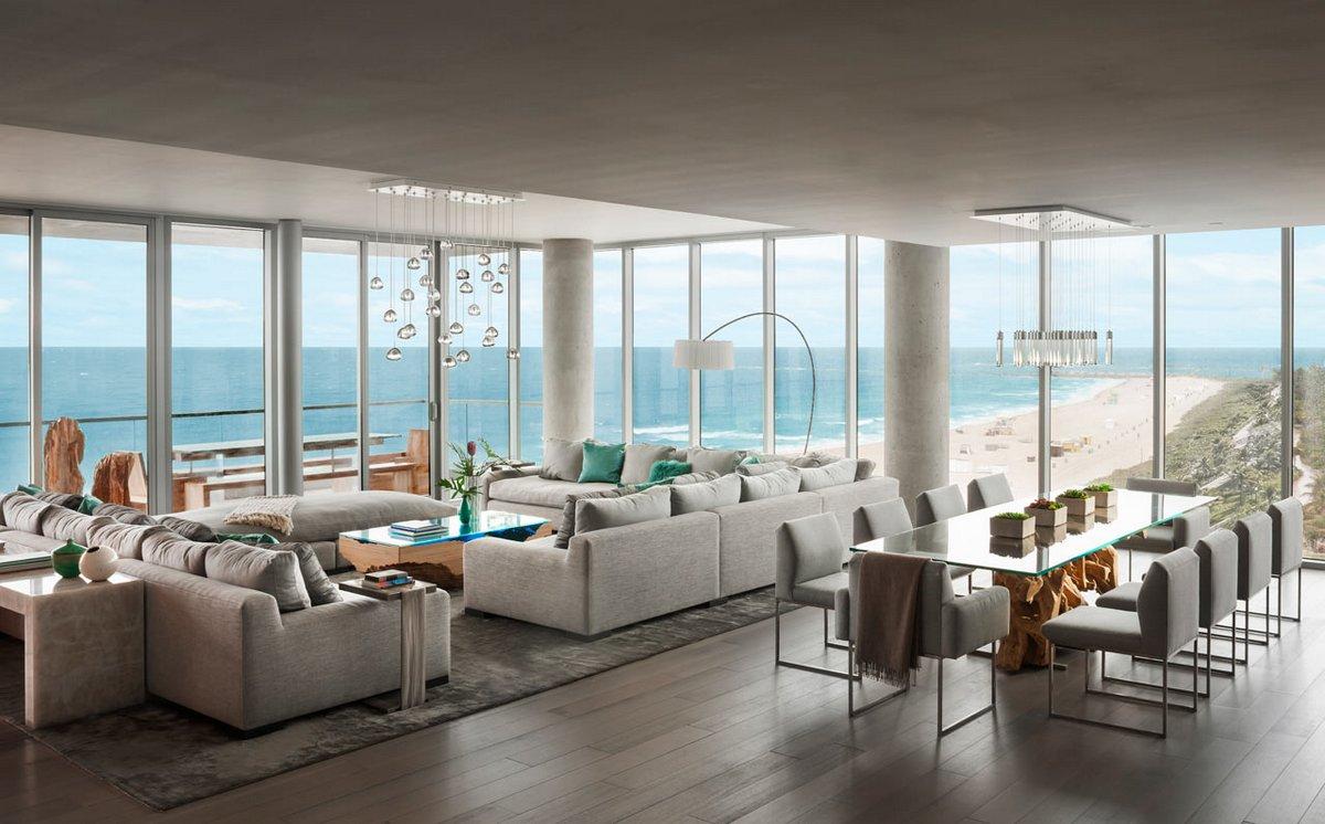 Пентхаус на берегу в Майами