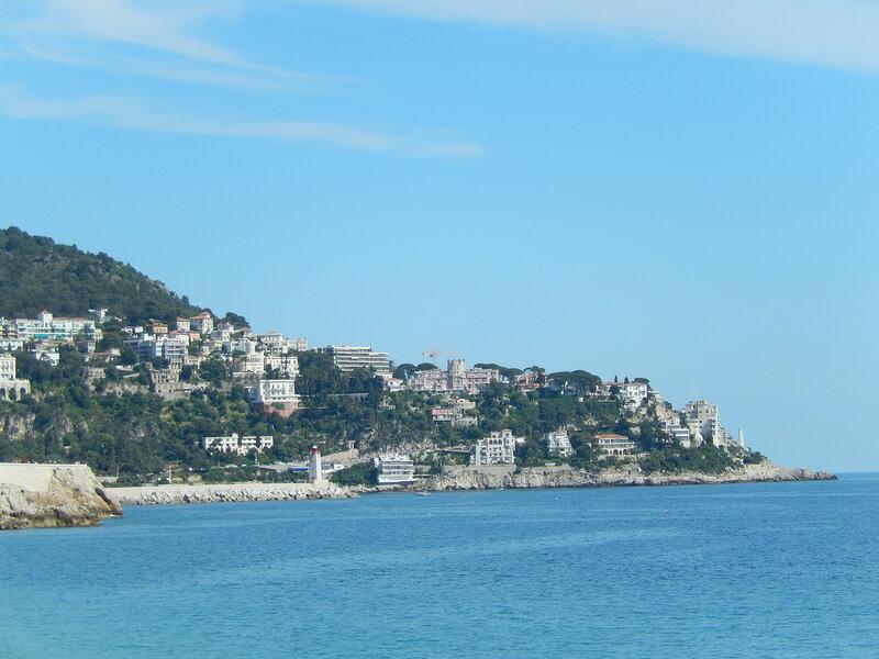 Восточная прибрежная часть Ниццы с другого ракурса