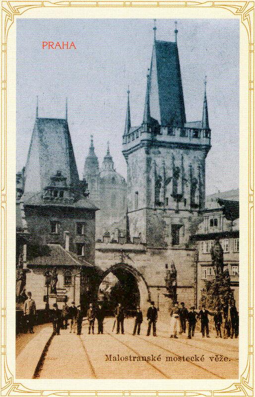 21. Малостранская мостовые башни — вид с Карлова моста. 1898 год