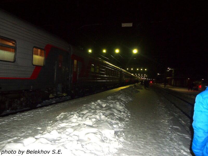 железная дорога, зима