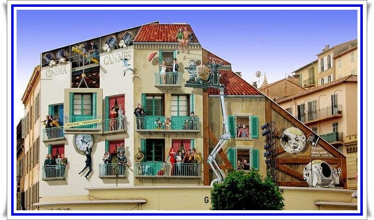 Патрик Коммеси (Patrick Commecy) - разрисованный фасад дома - 5.jpg