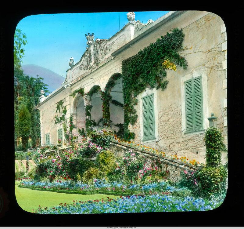 Lake Como. Villa Balbianello: garden loggia