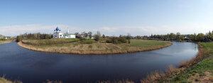 Панорама Кремля и реки Каменки