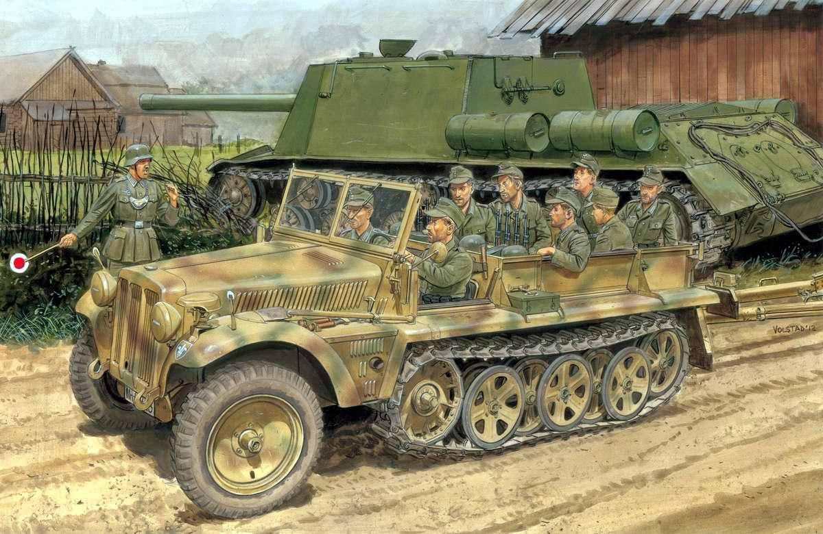 Немецкий средний полугусеничный тягач SdKfz 10 (Ron Volstad)