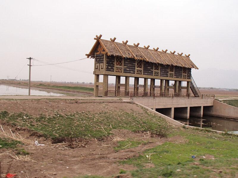 шлюз у водохранилища Сихайцзы,Suha Hai,