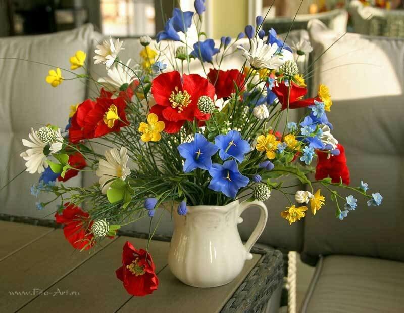 Фото букета полевых цветов