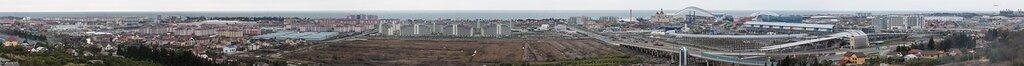 Панорамы изменений Олимпийского Сочи