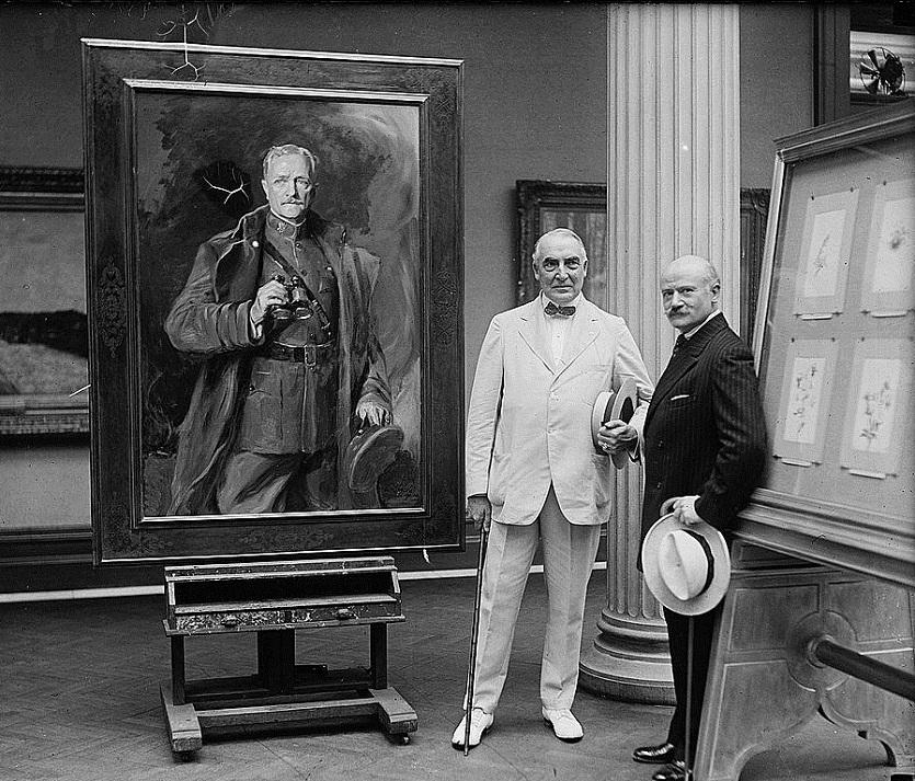 Хардинг, Филипп А. де Ласло и Першинг портрет