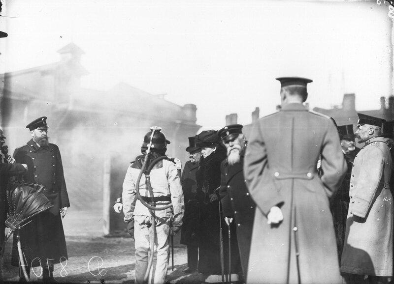 25 марта 1910 года, на территории Васильевской пожарной части Петербурга