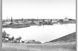 Вид на Добрянский завод со стороны пруда.1889