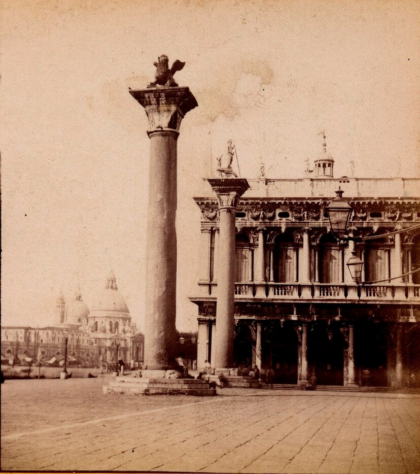 Колонны Святого Марка и Святого Теодора. 1870-е