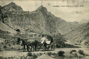 Окрестности Асхабада. Скалы возле железнодорожного моста