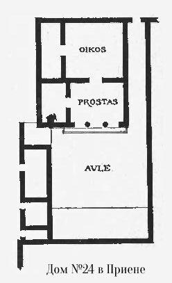 Жилой дом 24 в Приене, план