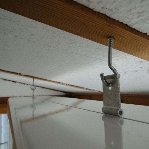 Крепление обогревателя Алмак ИК-5 (Almac ИК-5) на потолок из пенопласта