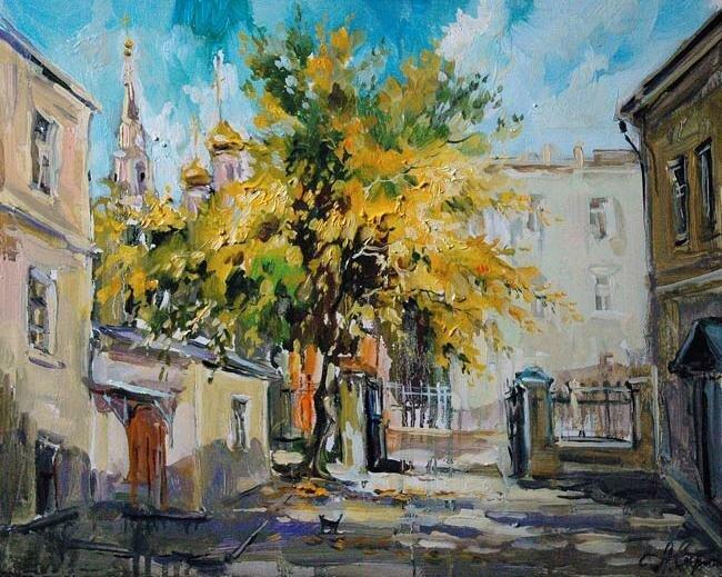 Анна Чарина. Золотая осень. Двор в Кадашевском переулке.jpg