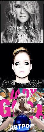 Рецензии на альбомы Celine Dion / Avril Lavigne  / Lady Gaga