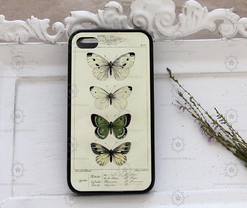 Чехол для айфона с винтажным рисунком, интернет-магазин Скрапбукшоп