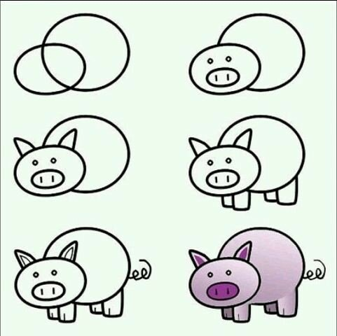 рисуем свинку