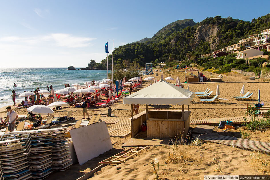 Пляж Глифада, Корфу, Греция
